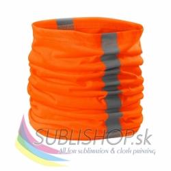 HV Šatka Twister reflexná oranžová