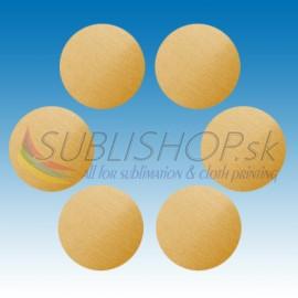 Krúžok z hliníkového plechu 0,5 mm O 25 mm Zlatý škr.