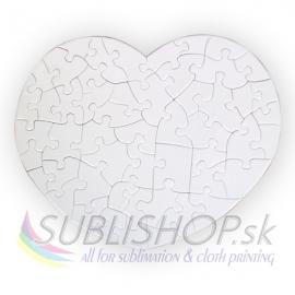 Puzzle srdce 24x19 cm, 52 dielov