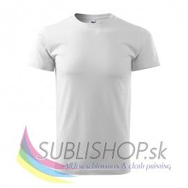 Pánske tričko Basic-biele 3XL