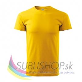 Pánske tričko Basic-žlté M