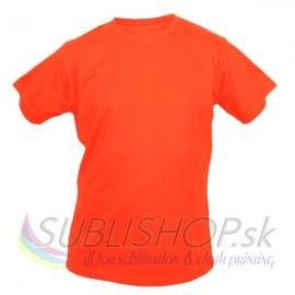 Tričko Sublishop detské Safety Orange, 110 (4 roky)