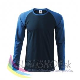 Pánske tričko Street LS-tmavomodré XL