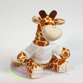 Žirafa s tričkom 22 cm