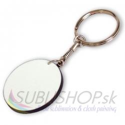 Plastová kľúčenka kruh priemer 39 mm
