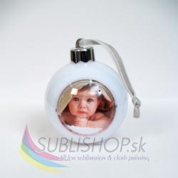 Vianočná guľa s fotkou – LED