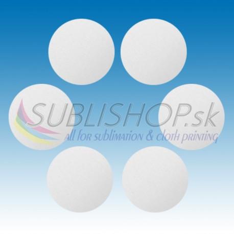 Krúžok z hliníkového plechu 0,5 mm O 25 mm biely