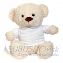 Macko s tričkom biely 20cm