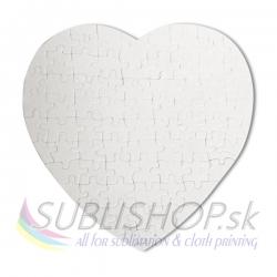 Puzzle srdce 17,5x19 cm, 76 dielov tkaninové