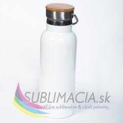 Turistiská fľaša 600 ml biela