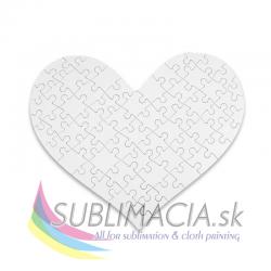 Puzzle srdce 17,5x19 cm, 76 dielov