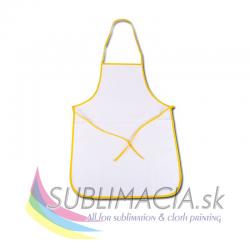 Kuchynská zástera – žltý lem