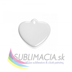 Keramická ozdoba - srdce 4x3,7cm