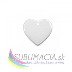 Keramická ozdoba - srdce 7,5x7cm