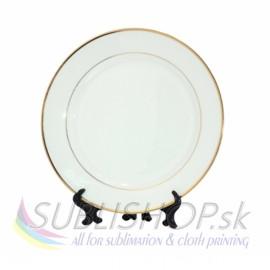 Tanier biely 18 cm zlatý, so stojanom